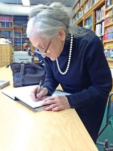 Wizyta p. Marii Grzegorzewskiej w Muzuem, listopad 2013. Zdjecie M. Kot