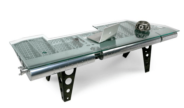 Industrial Furniture Created From Vintage Airplane Parts Dzinetrip - 20 unique pieces of furniture made from recycled airplane parts