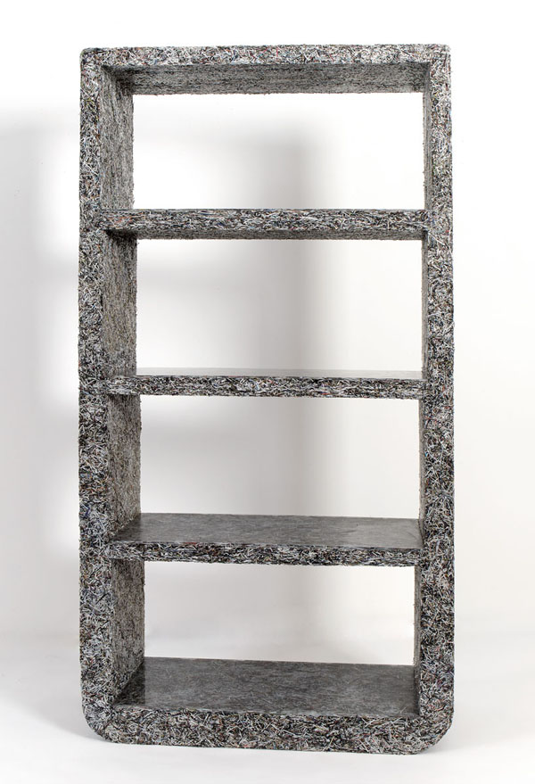 Furniture built from surplus elle decor magazines for Furniture decoration paper