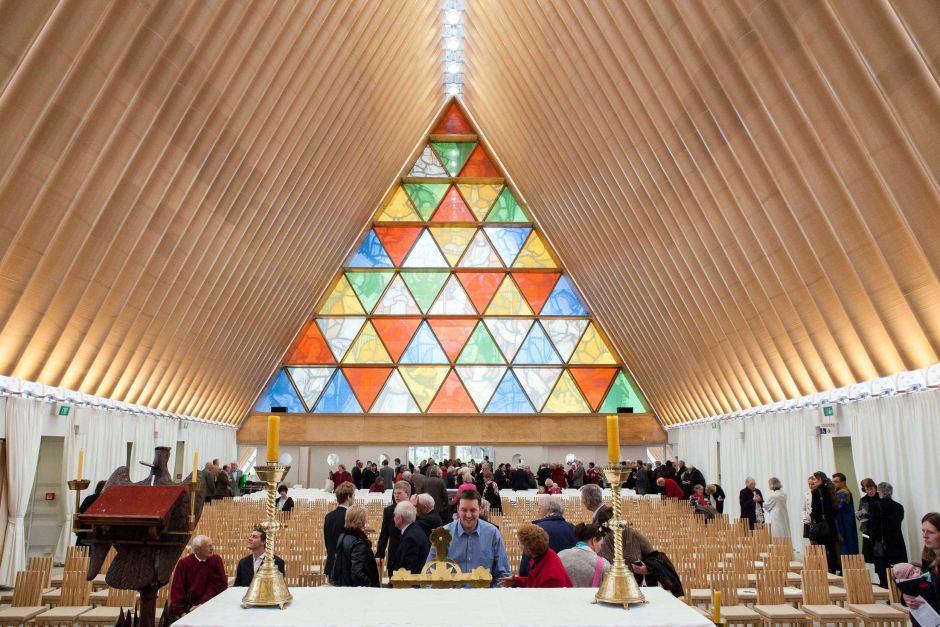 Cardboard Cathedral by Japanese architect Shigeru Ban - 01