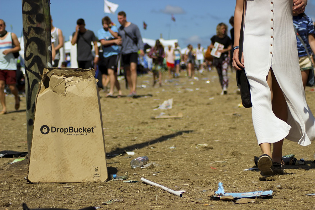 DropBucket - Waste bin made from recycled cardboard - 02