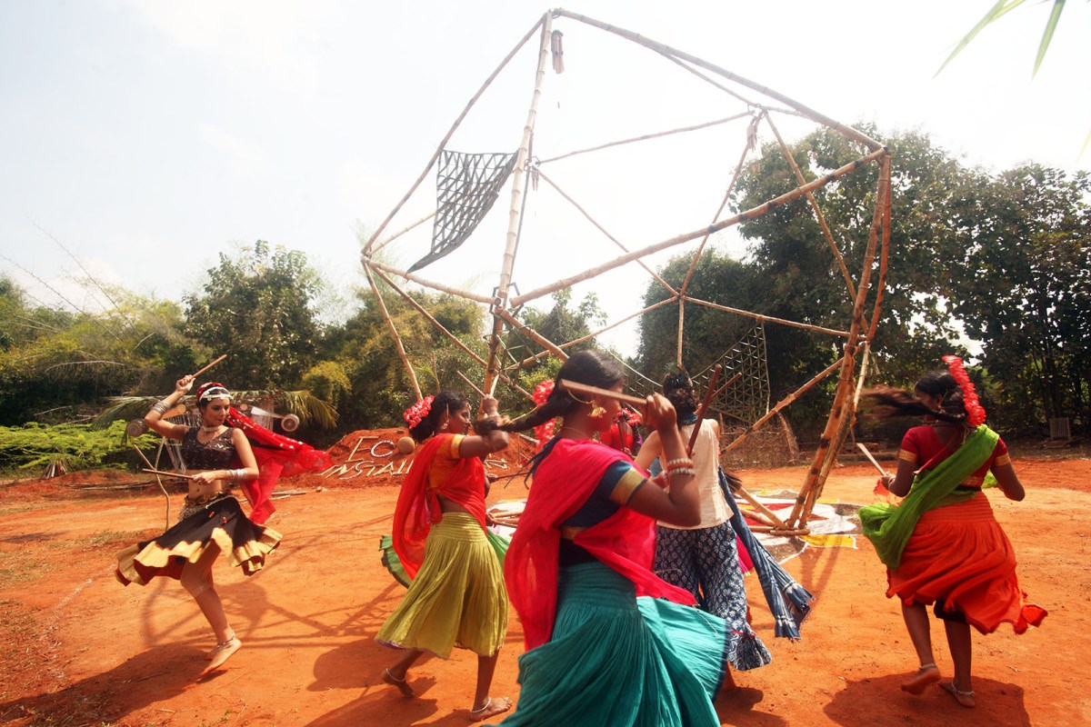 Eco Art Instllations in Auroville by artist Char Evans - 04