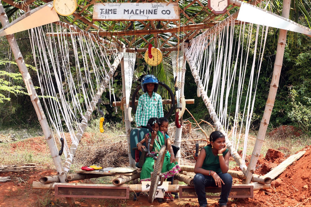 Eco Art Instllations in Auroville by artist Char Evans - 05
