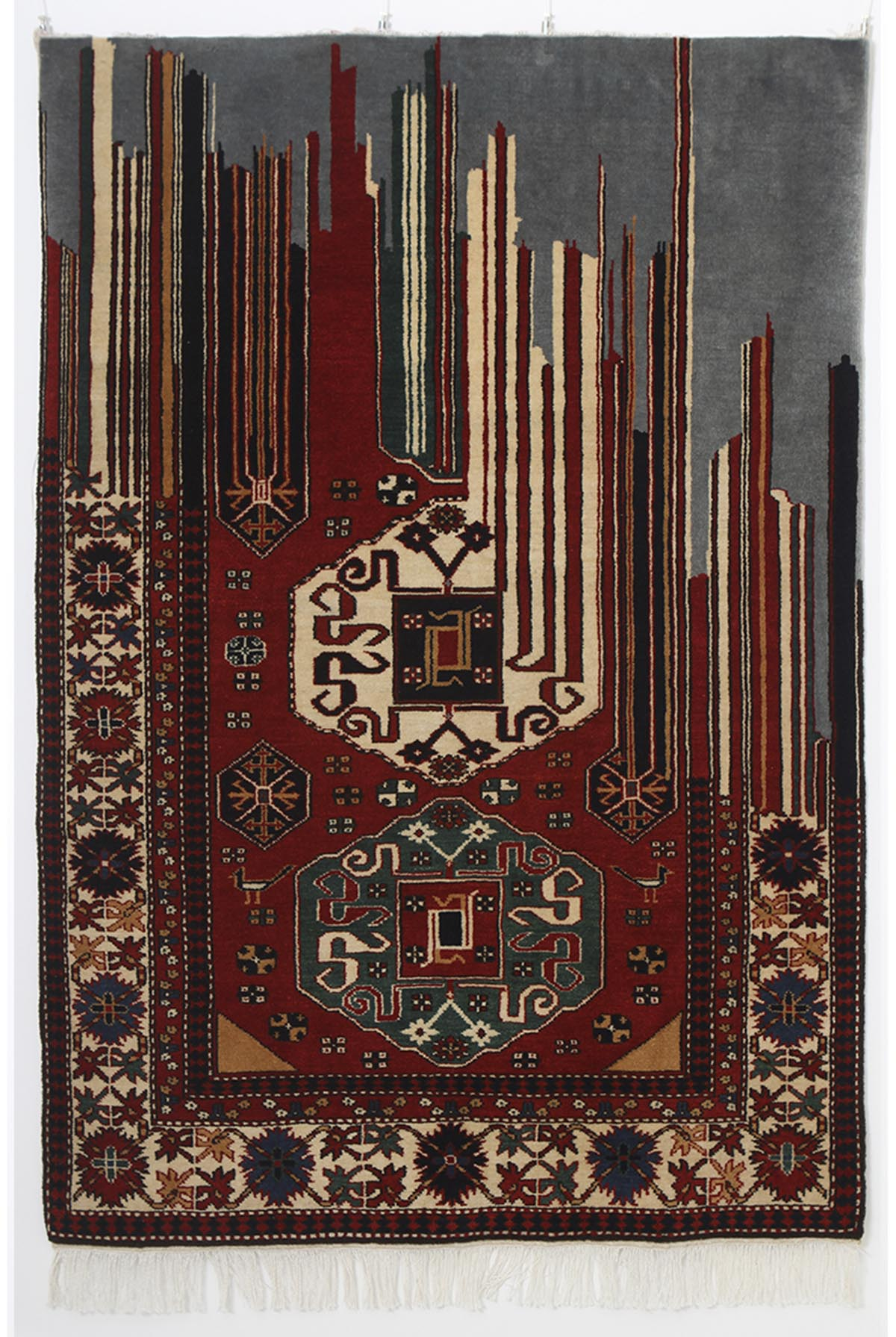 Faig Ahmed's modern interpretations of traditional carpet design -04