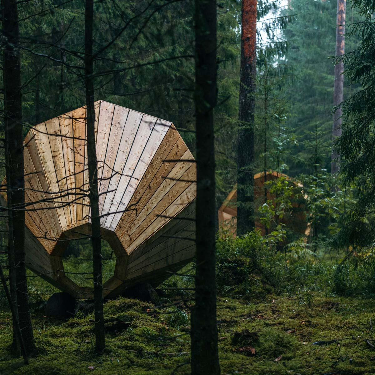 Gigantic Wooden Megaphone Installation at the Pähni Nature Centre in Estonia - 06