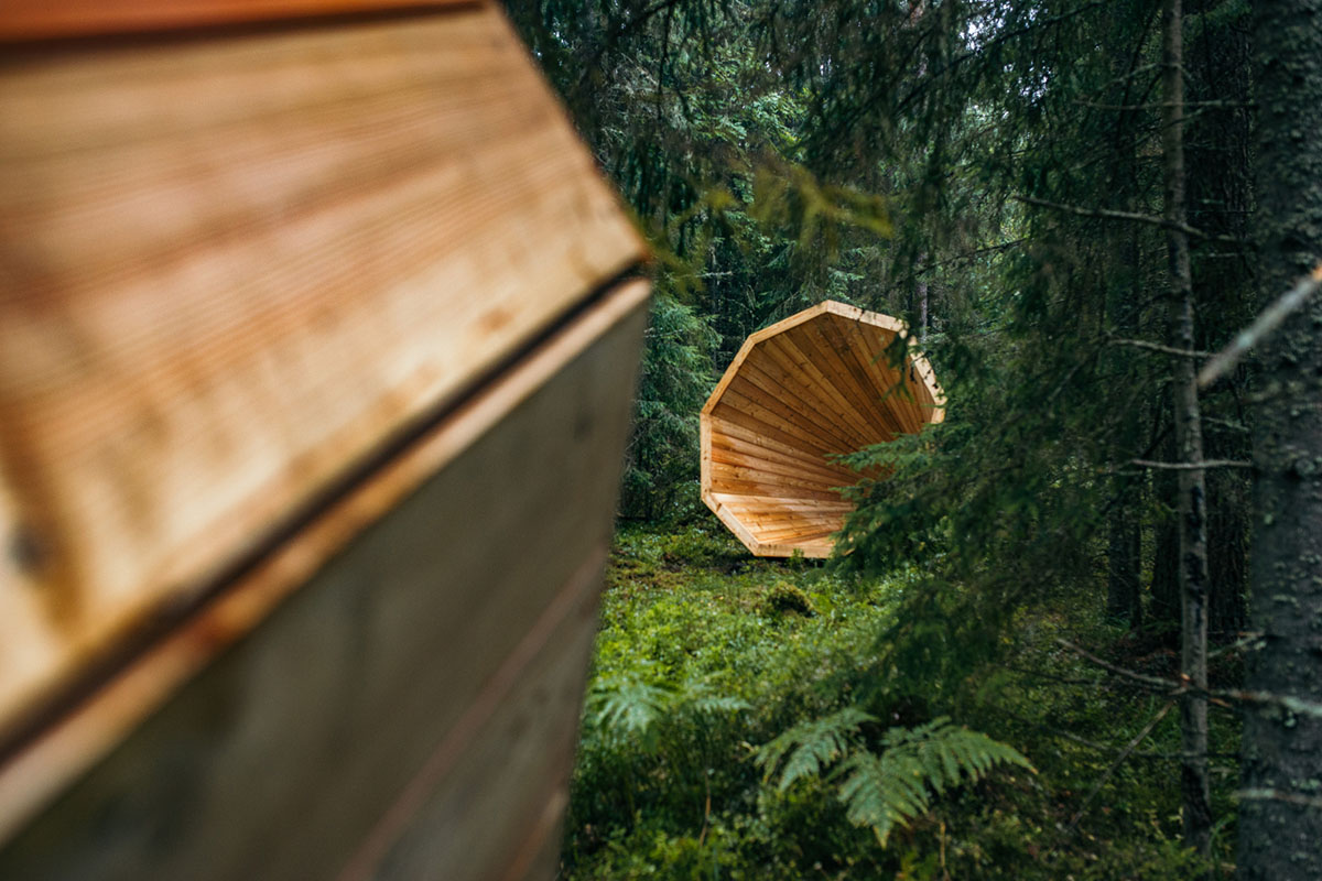 Gigantic Wooden Megaphone Installation at the Pähni Nature Centre in Estonia - 08