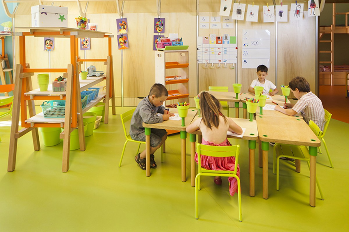 Le Ble en Herbe Scool in France by Designer Matali Crasset - 05