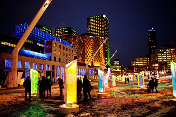 互动公共艺术照亮蒙特利尔的冬天