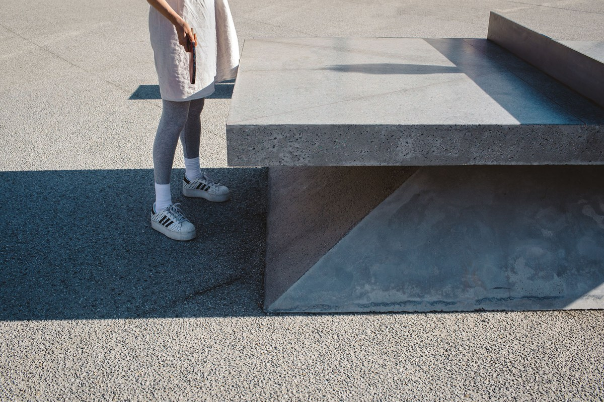 Monoliths - A concrete sculptural Ping Pong Table and Bench - 03