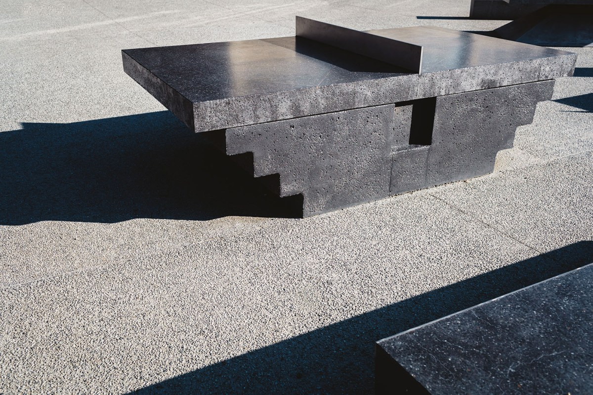 Monoliths - A concrete sculptural Ping Pong Table and Bench - 07