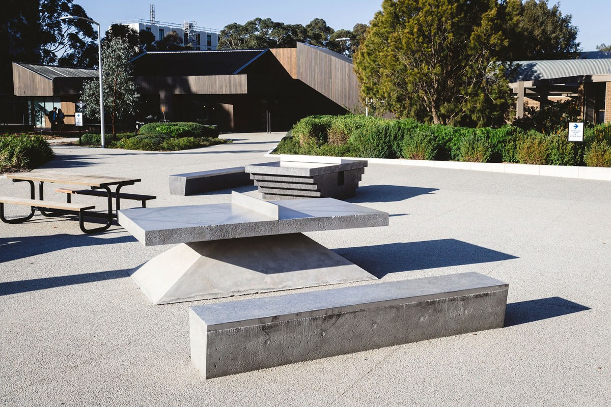 Monoliths - A concrete sculptural Ping Pong Table and Bench - 09