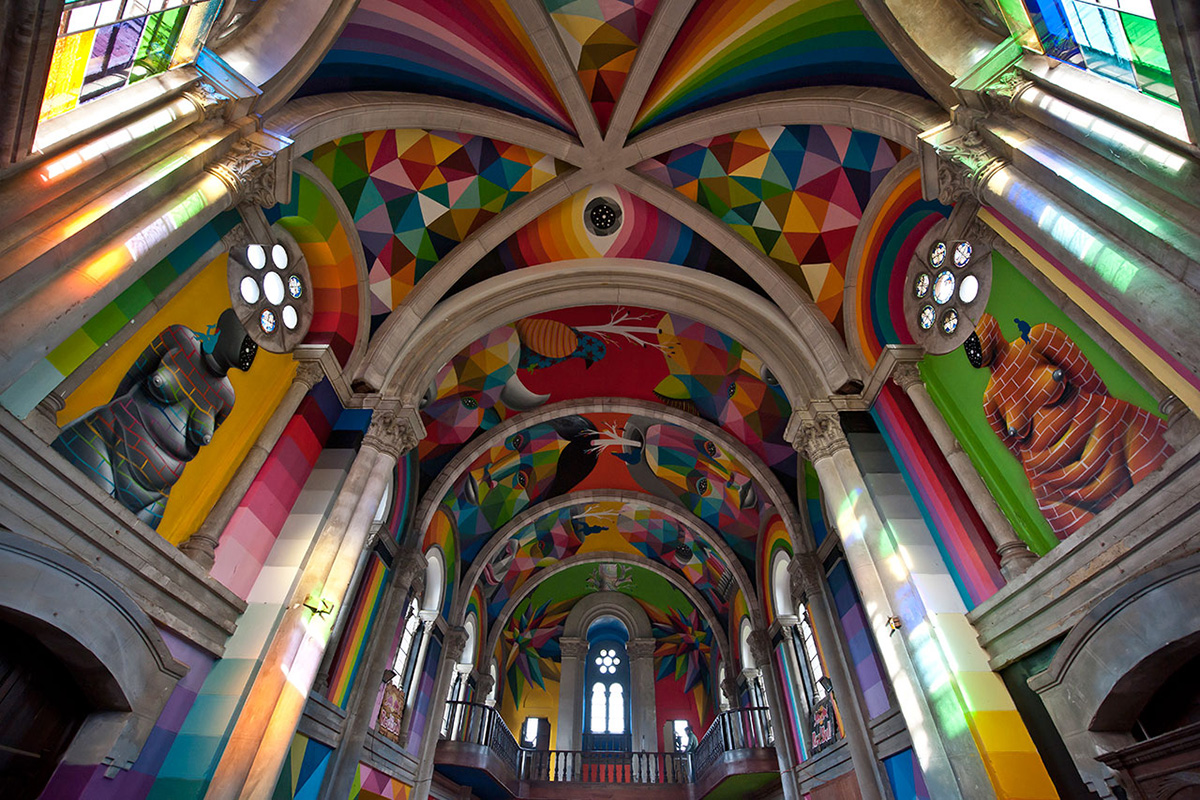 Skate Church in Spain receives a personal touch by artist Okuda San Miguel - 02