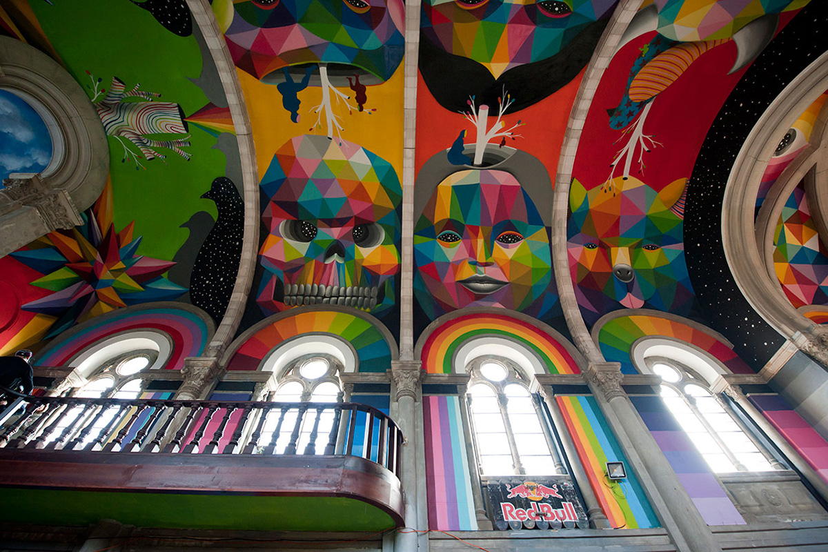 Skate Church in Spain receives a personal touch by artist Okuda San Miguel - 05