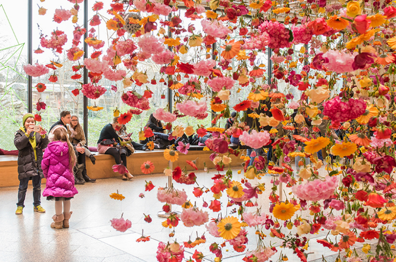 Spring garden installation by Rebecca Louise Law at Bikini Berlin Concept Mall - 06
