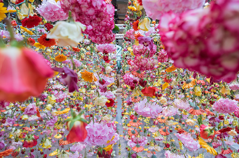 Spring garden installation by Rebecca Louise Law at Bikini Berlin Concept Mall - 07