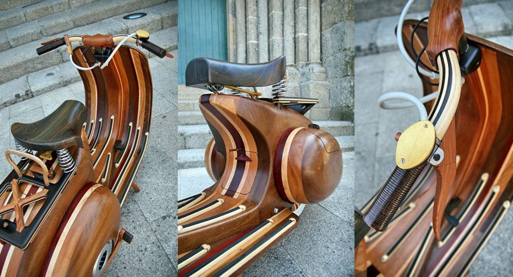 Wooden Vespa designed by Carlos Alberto - 04