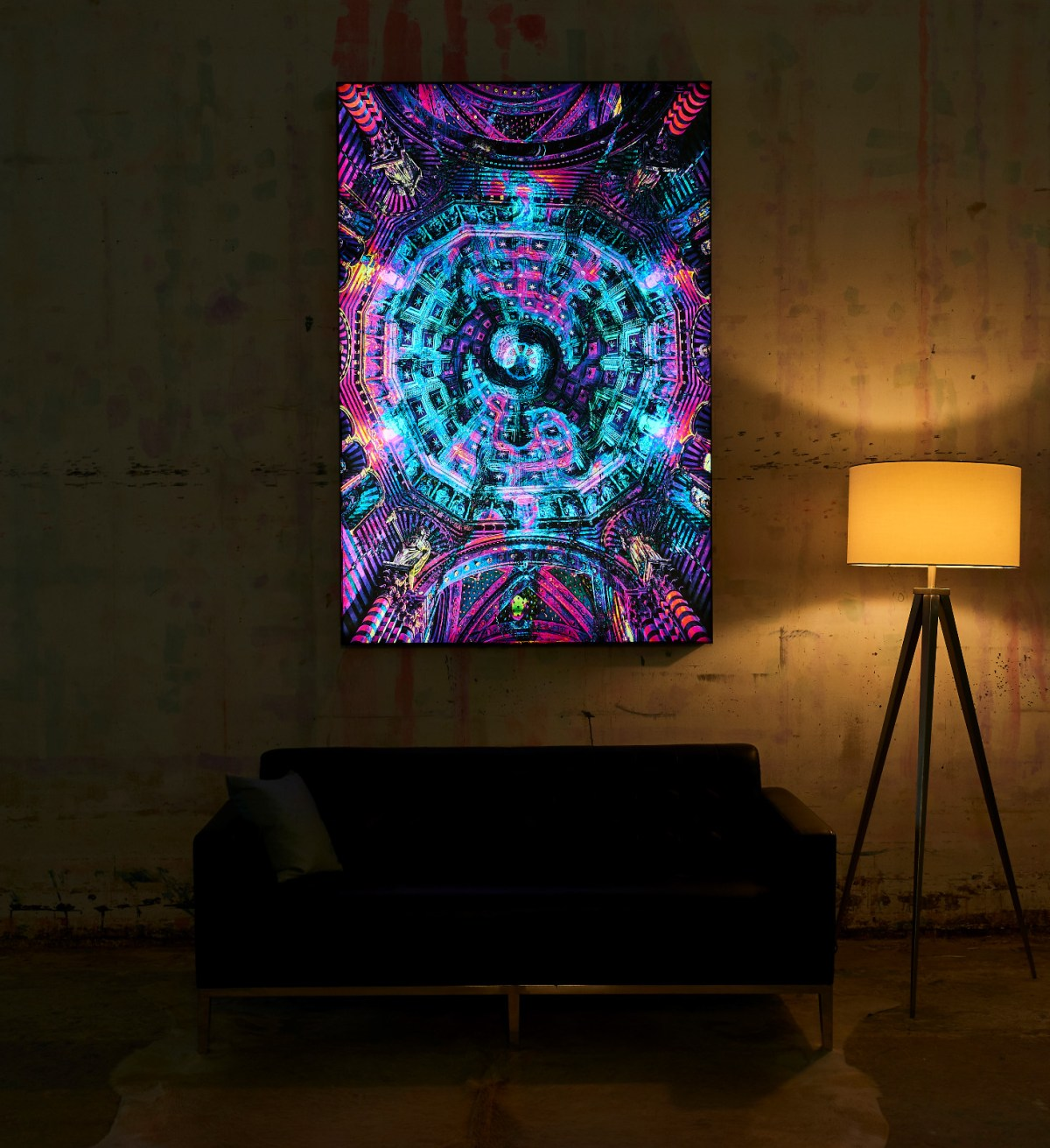 Big Naked Wall Creates A New Art Category with Backlit Frames Art -