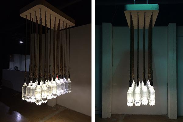 Luxury Solar powered bottle cap lighting installation by Basic Design DZine Trip