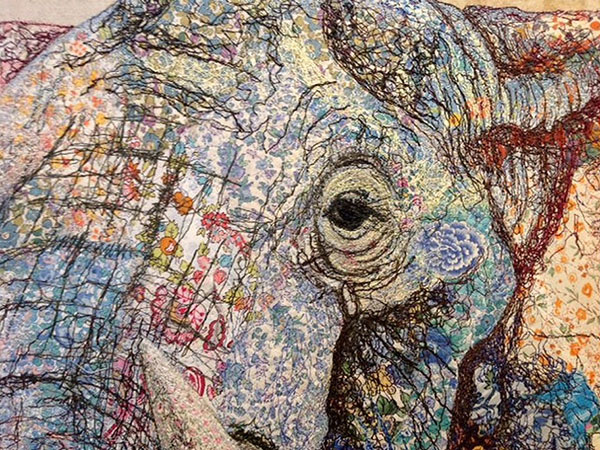 Textile Collages Of African Wildlife By Sophie Standing