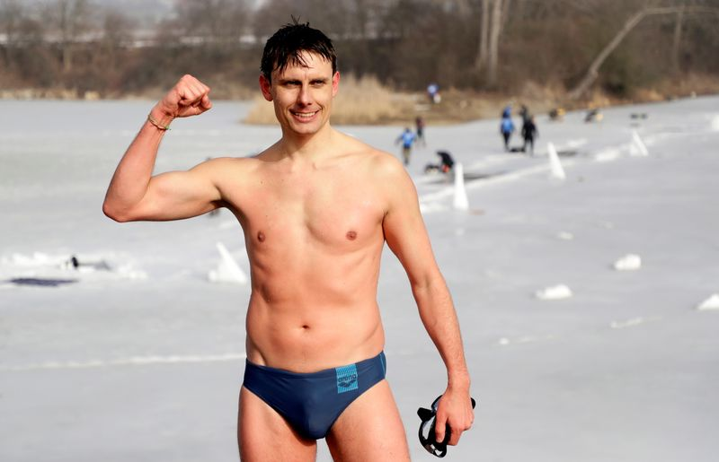 The new world record in under-ice swimming near Teplice