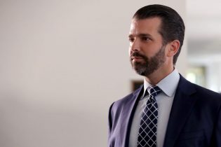 WASHINGTON, DC - JUNE 12: Donald Trump Jr., the son of U.S. President Donald Trump, leaves following a second closed-door interview with members of the Senate Intelligence Committee in the Hart Senate Office Building on Capitol Hill June 12, 2019 in Washington, DC. Trump Jr. negotiated limitations with the committee after it issued a subpoena for his testimony, which will include questions about a June 2016 meeting at Trump Tower with a Russian lawyer promising incriminating information about Hillary Clinton. (Photo by Chip Somodevilla/Getty Images)