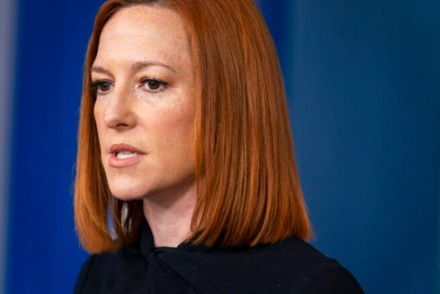 White House press secretary Jen Psaki speaks during a press briefing at the White House, Friday, April 23, 2021, in Washington. (AP Photo/Evan Vucci)