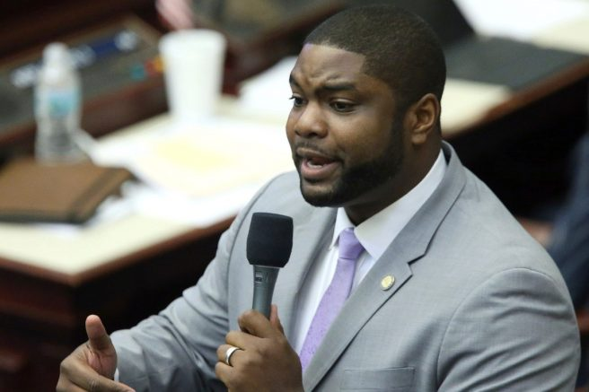 Rep. Byron Donalds speaks during a session.   Steve Cannon/AP Photo