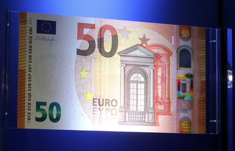 FILE PHOTO: The European Central Bank (ECB) presents the new 50 euro note at the bank's headquarters in Frankfurt