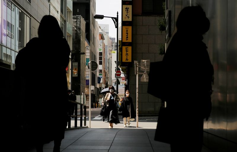 The first day of Japan's third state of emergency in Tokyo