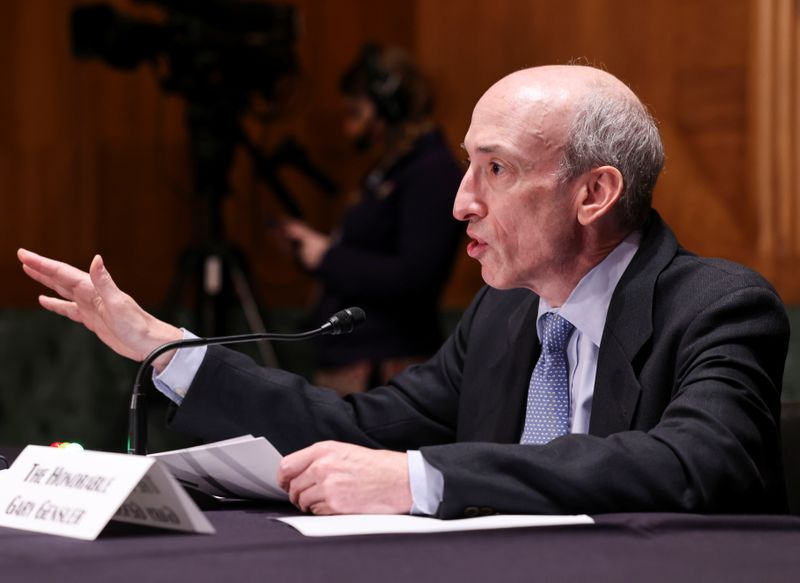 U.S. Senate Banking Committee holds hearing to examine the Securities and Exchange Commission on Capitol Hill in Washington