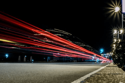 Time lapse of cars on road