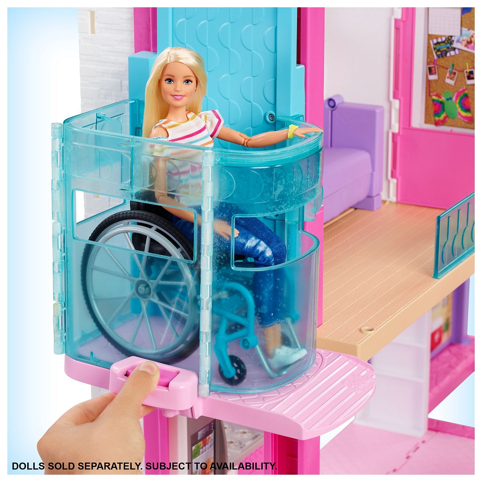 Barbie Dreamhouse Dollhouse With Pool Slide And Wheelchair Accessible Elevator At Toys R Us