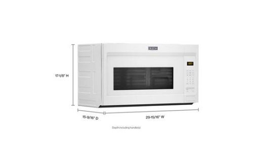 over the range microwave with stainless