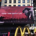 Times Square lysreklame for elefanter