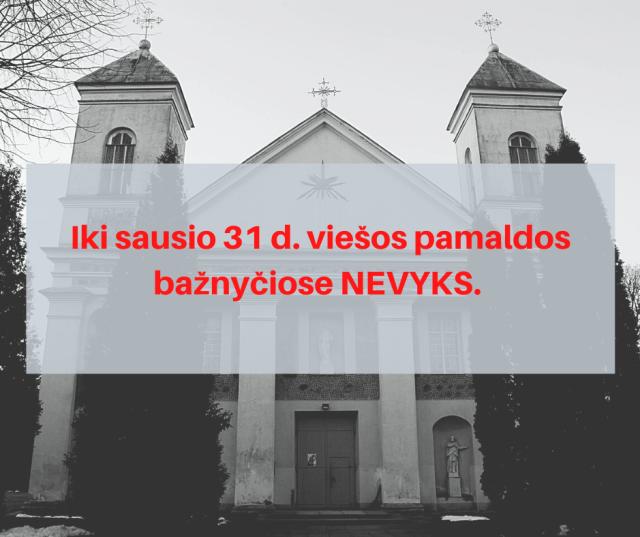 Lietuvos vyskupai atšaukė sprendimą dėl viešų pamaldų atnaujinimo bažnyčiose 21