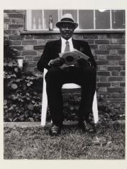 Charlie Philips in Chair 2002, (c) Victoria and Albert Museum and Black Cultural Archives CIS:E.263-2011