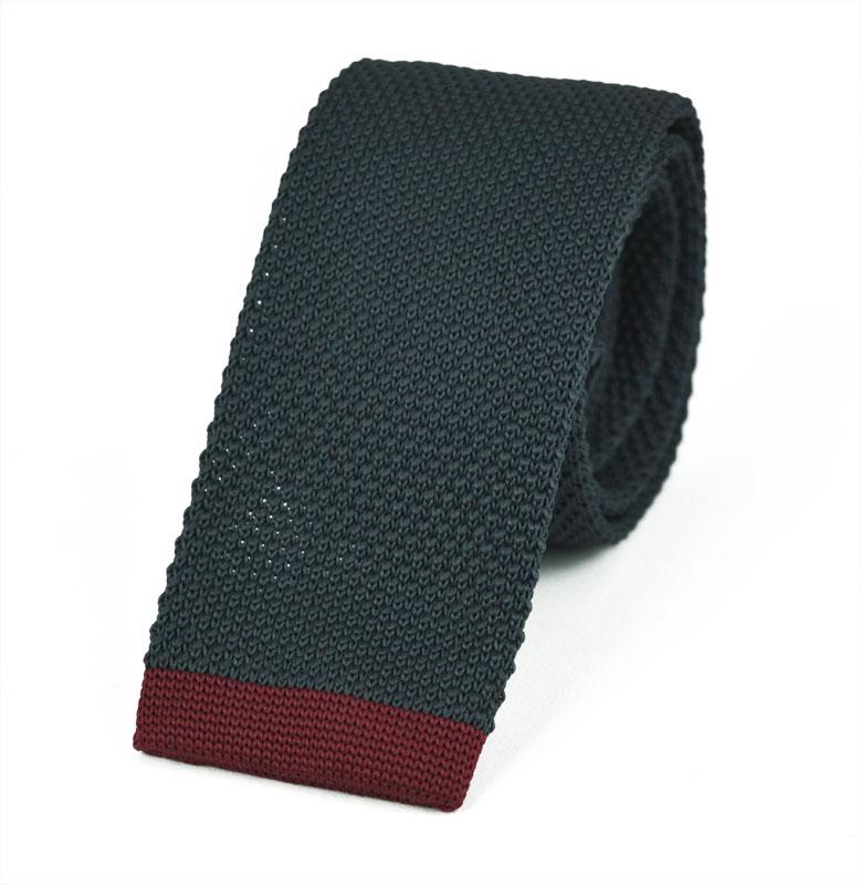 Πλεκτή Γραβάτα Grey-red