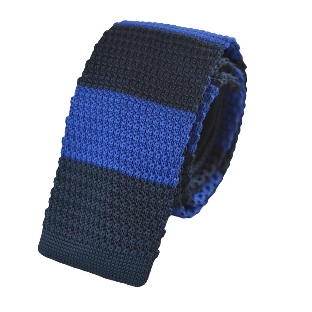 Πλεκτή γραβάτα μπλε