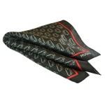 Μεταξωτό μαντηλάκι Hugo Boss μαύρο με φιγούρα