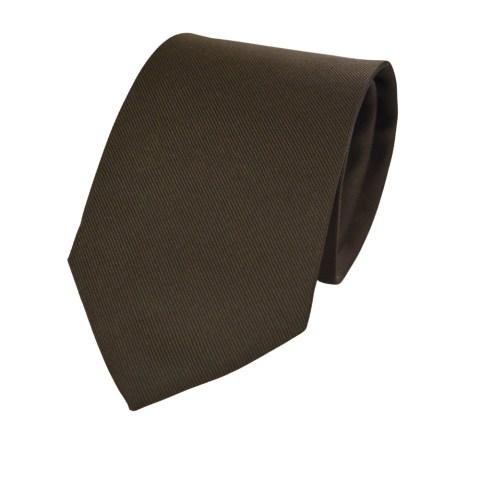 Μεταξωτή Γραβάτα Pierre Cardin καφέ σκούρο - 9 cm