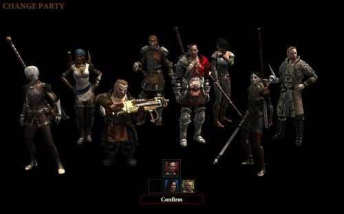 The party selection screen