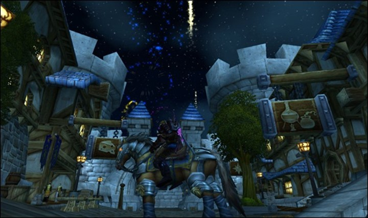 Fireworks in Stormwind