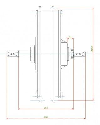 xGerman Hinterrad Nabenmotor 1000 W/48V -