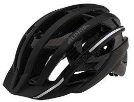 Alpina Radhelm e-Helm Deluxe, Black/Pinstripes Reflective, 55-59, 9690131 -