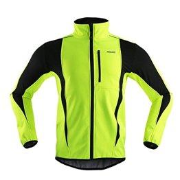 iisport® Radjacke herren softshell fleece herbst & winter warm halten Winddicht Atmungsaktiv grün XXL -