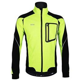 M.Baxter Fahrradbekleidung Herbst Winter Fahrrad Trikot Wasserdicht Winddicht Warm Fleece Jacke Mit Reflex-Logo -