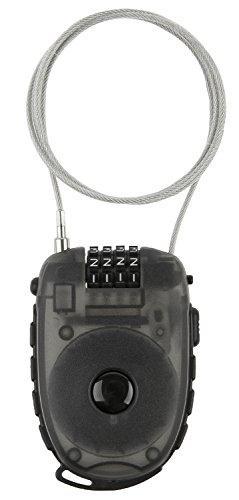 M-Wave Aufroll-Zahlen-Kabel-Schloss, 90cm x 2,4 mm -