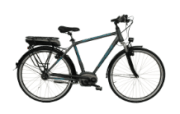 Nopeus Nexus 8 eTour Citybike (28 Zoll, 53 cm, Trapez, 400 Wh, Grau)
