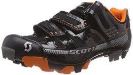 Scott MTB Comp, Herren Radsportschuhe - Mountainbike, Schwarz (Black Gloss/Orange), 44 EU -
