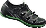Shimano E-SHCT46, Unisex-Erwachsene Radsportschuhe - Mountainbike, Schwarz (Black/Green), 39 EU -